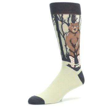 Image of Brown Bear Naked Men's Dress Socks (side-2-09)