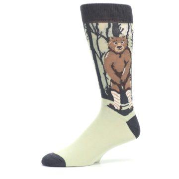 Image of Brown Bear Naked Men's Dress Socks (side-2-10)