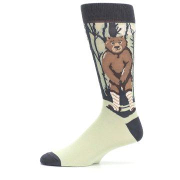 Image of Brown Bear Naked Men's Dress Socks (side-2-11)