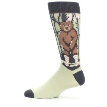 Image of Brown Bear Naked Men's Dress Socks (side-2-12)