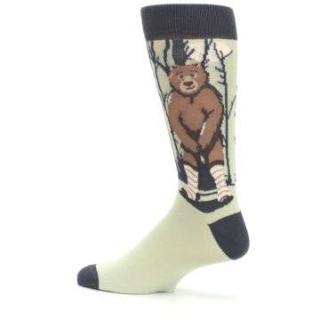 Image of Brown Bear Naked Men's Dress Socks (side-2-13)