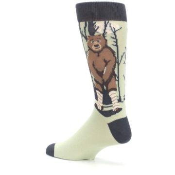 Image of Brown Bear Naked Men's Dress Socks (side-2-back-14)