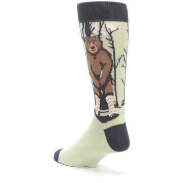 Image of Brown Bear Naked Men's Dress Socks (side-2-back-15)