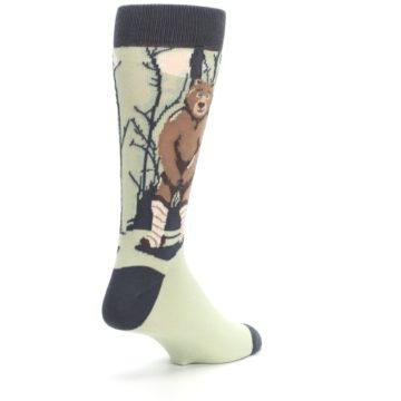 Image of Brown Bear Naked Men's Dress Socks (side-1-back-21)