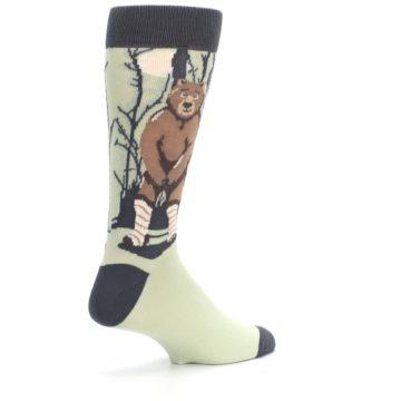 Image of Brown Bear Naked Men's Dress Socks (side-1-back-22)