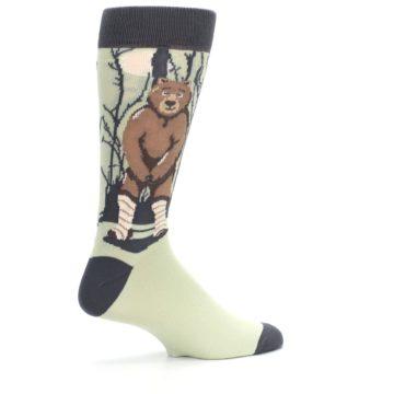 Image of Brown Bear Naked Men's Dress Socks (side-1-23)