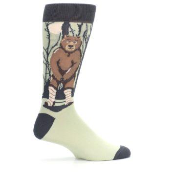 Image of Brown Bear Naked Men's Dress Socks (side-1-24)
