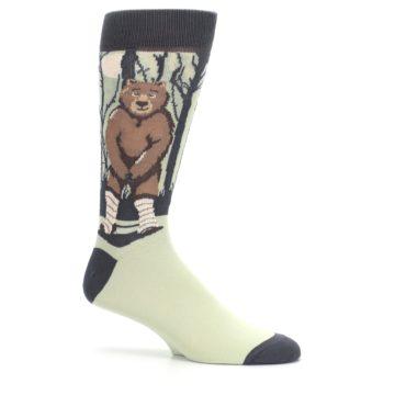 Image of Brown Bear Naked Men's Dress Socks (side-1-25)