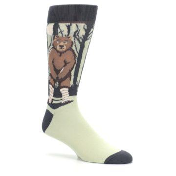 Image of Brown Bear Naked Men's Dress Socks (side-1-26)