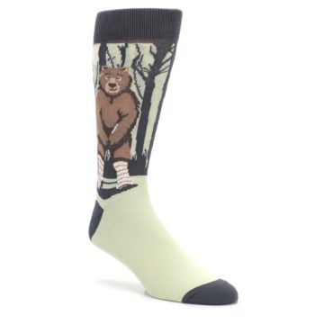 Image of Brown Bear Naked Men's Dress Socks (side-1-27)