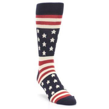 Rustic Red American Flag Socks for Men by Statement Sockwear