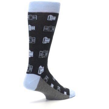 Image of Blue Gray Photography Film Cameras Men's Dress Socks (side-1-back-22)