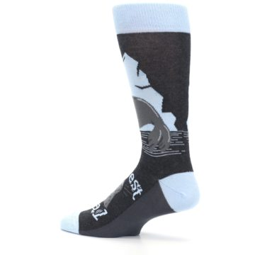Image of Gray Blue Sealiest Seal Men's Dress Socks (side-2-13)