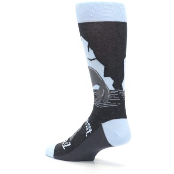 Image of Gray Blue Sealiest Seal Men's Dress Socks (side-2-back-14)