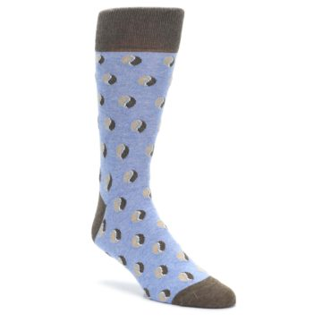 Light-Blue-Brown-Coffee-Bean-Mens-Dress-Socks-Statement-Sockwear