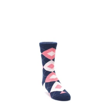 Flamingo Petal Pink Navy Junior Groomsmen Socks Statement Sockwear