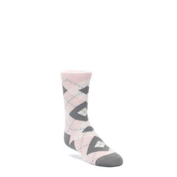 Petal Pink Gray Junior Groomsmen Wedding Socks