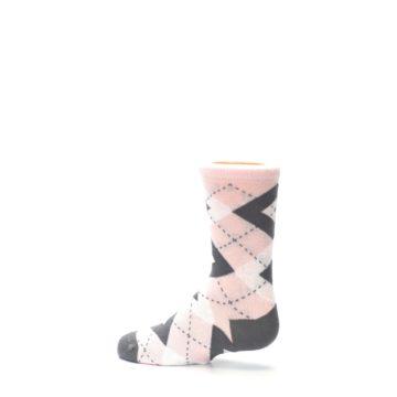 Image of Petal Pink Gray Junior Groomsmen Kid's Dress Socks (side-2-13)