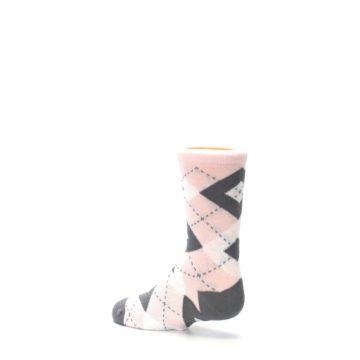 Image of Petal Pink Gray Junior Groomsmen Kid's Dress Socks (side-2-back-14)