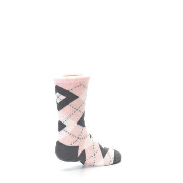 Image of Petal Pink Gray Junior Groomsmen Kid's Dress Socks (side-1-back-22)
