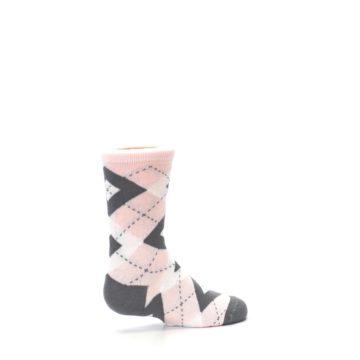 Image of Petal Pink Gray Junior Groomsmen Kid's Dress Socks (side-1-23)