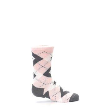 Image of Petal Pink Gray Junior Groomsmen Kid's Dress Socks (side-1-24)