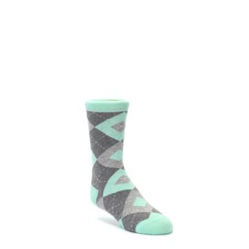 Mint Gray Junior Groomsmen Wedding Socks