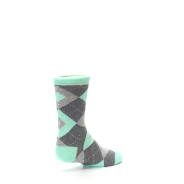 Image of Mint Gray Junior Groomsmen Kid's Dress Socks (side-1-back-22)