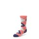 Image of Coral Navy Junior Groomsmen Kid's Dress Socks (side-2-front-08)