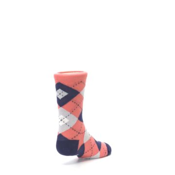 Image of Coral Navy Junior Groomsmen Kid's Dress Socks (side-1-back-21)