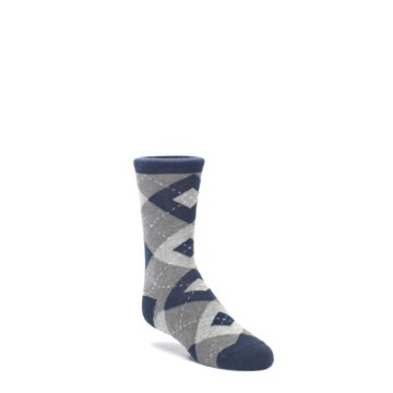 Navy-Gray-Junior-Groomsmen-Kids-Dress-Socks-Statement-Sockwear