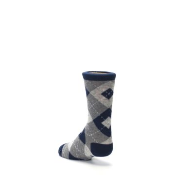 Image of Navy Gray Junior Groomsmen Kid's Dress Socks (side-2-back-15)