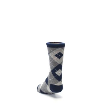 Image of Navy Gray Junior Groomsmen Kid's Dress Socks (side-2-back-16)