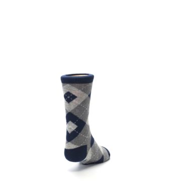 Image of Navy Gray Junior Groomsmen Kid's Dress Socks (side-1-back-20)