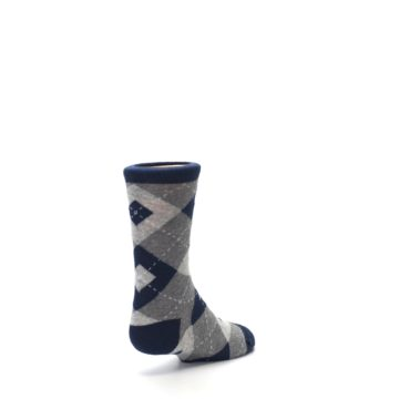 Image of Navy Gray Junior Groomsmen Kid's Dress Socks (side-1-back-21)