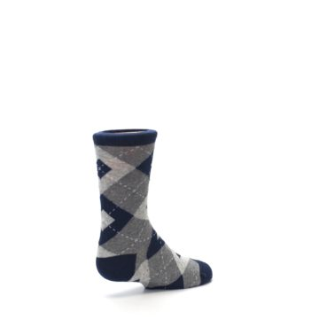 Image of Navy Gray Junior Groomsmen Kid's Dress Socks (side-1-back-22)