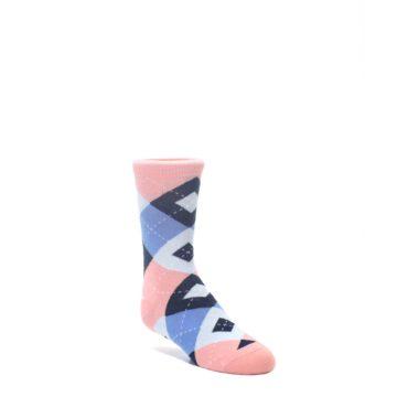 Pink-Blue-Junior-Groomsmen-Kids-Dress-Socks-Statement-Sockwear