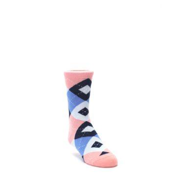 Pink Blue Navy Junior Groomsmen Kids Wedding Socks by Statement Sockwear