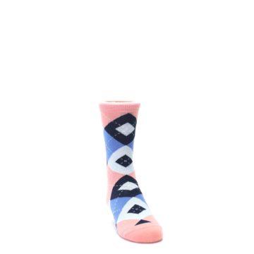 Image of Pink Blue Junior Groomsmen Kid's Dress Socks (side-1-front-03)