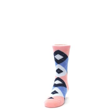 Image of Pink Blue Junior Groomsmen Kid's Dress Socks (side-2-front-06)