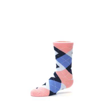Image of Pink Blue Junior Groomsmen Kid's Dress Socks (side-2-10)