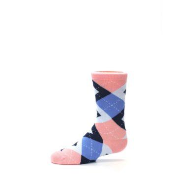Image of Pink Blue Junior Groomsmen Kid's Dress Socks (side-2-11)