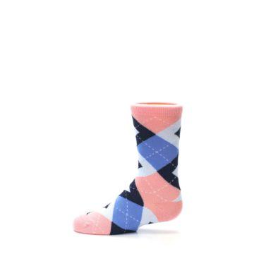 Image of Pink Blue Junior Groomsmen Kid's Dress Socks (side-2-12)