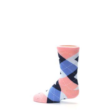 Image of Pink Blue Junior Groomsmen Kid's Dress Socks (side-2-13)