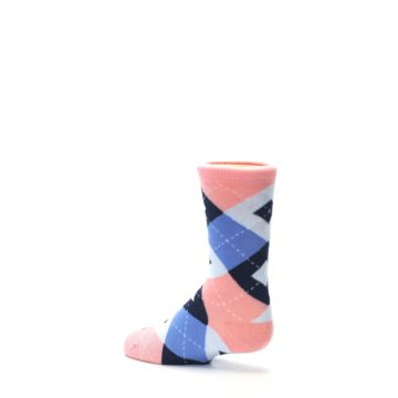 Image of Pink Blue Junior Groomsmen Kid's Dress Socks (side-2-back-14)