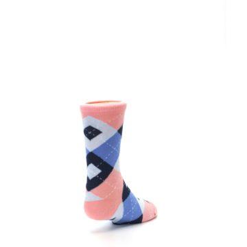 Image of Pink Blue Junior Groomsmen Kid's Dress Socks (side-1-back-21)