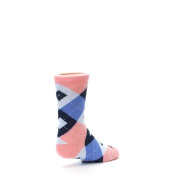 Image of Pink Blue Junior Groomsmen Kid's Dress Socks (side-1-back-22)