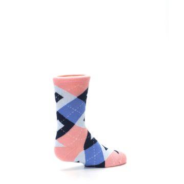 Image of Pink Blue Junior Groomsmen Kid's Dress Socks (side-1-23)