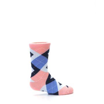 Image of Pink Blue Junior Groomsmen Kid's Dress Socks (side-1-24)