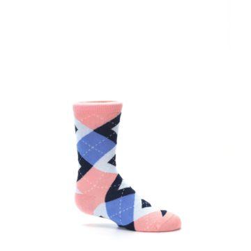 Image of Pink Blue Junior Groomsmen Kid's Dress Socks (side-1-25)